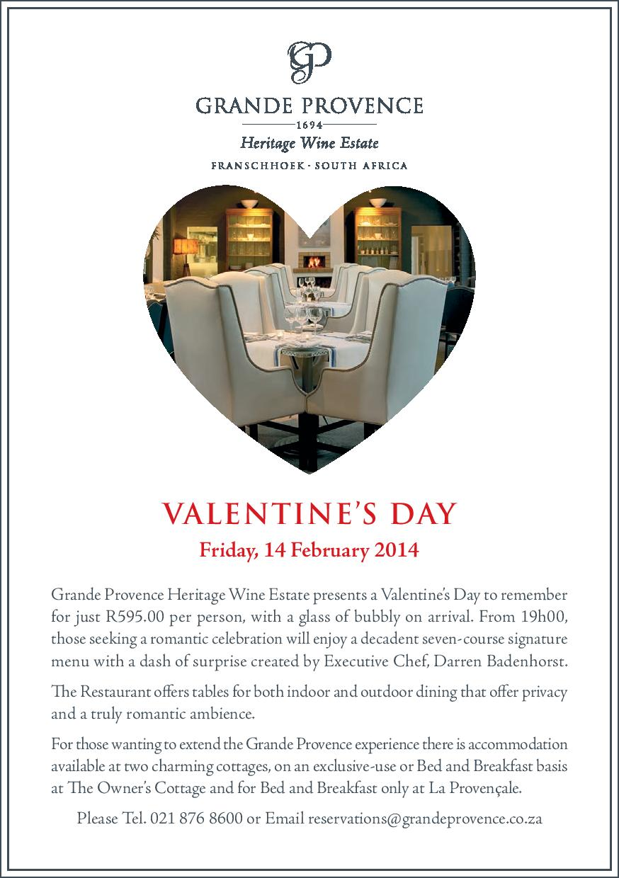 Franschhoek Wine Valley Grande Provence Valentine S Day Page 001
