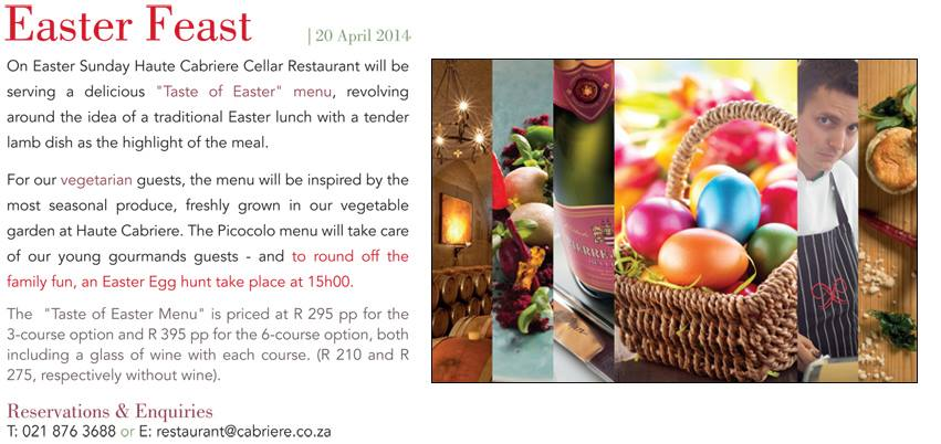easter at Haute Cabriere