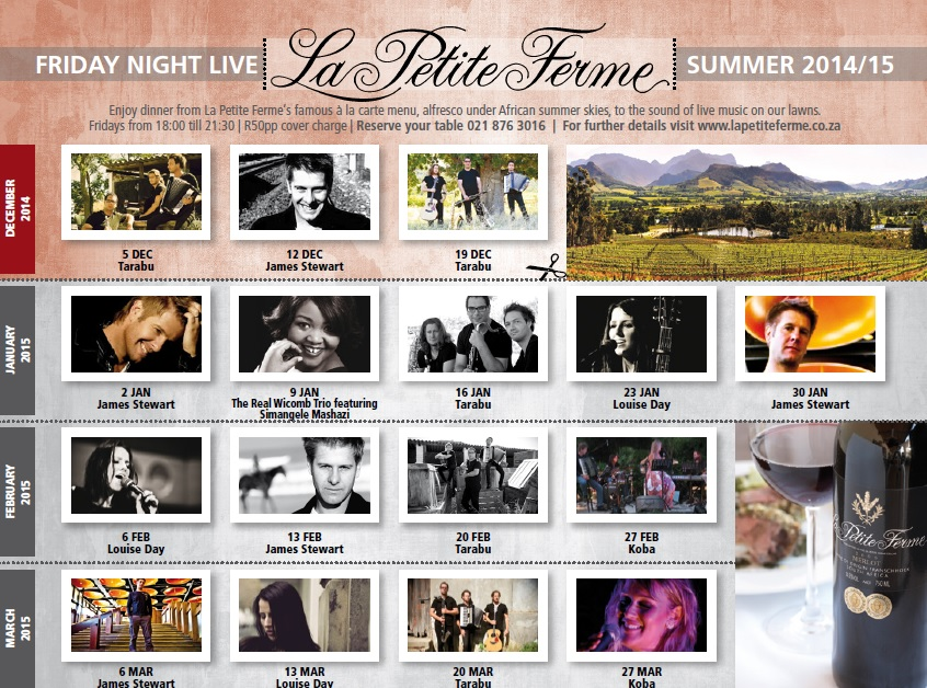 Friday night live at La Petite Ferme