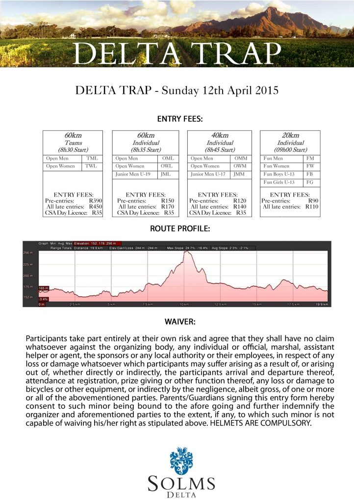 Delta Trap 2015 Flyer Back