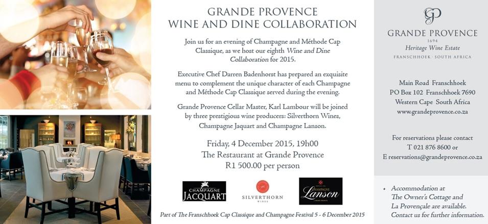 Wine & Dine at GP