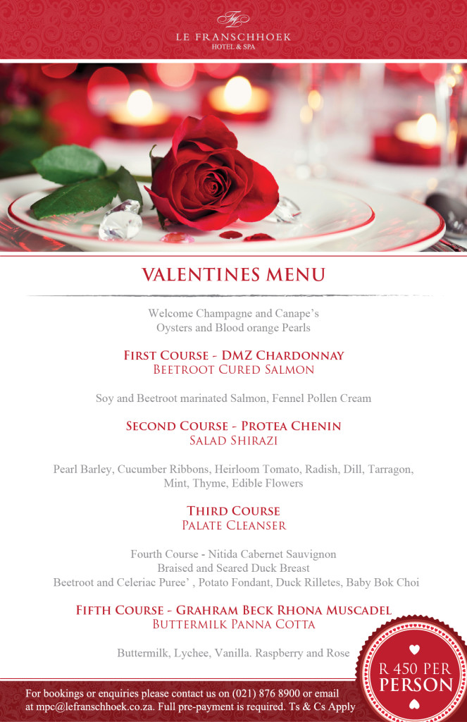 Le Franschhoek Valentines
