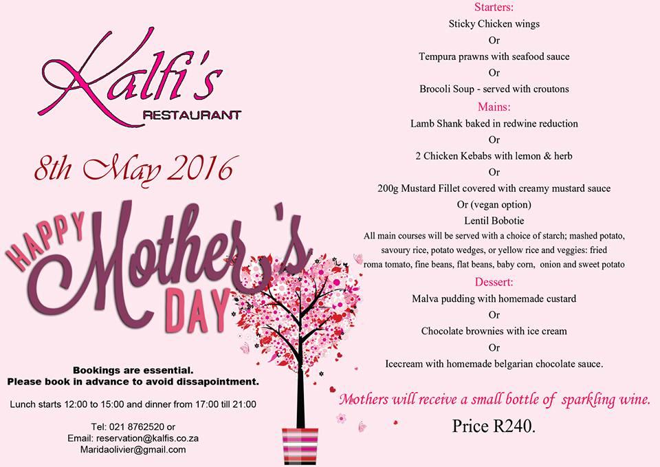Mothersday at Kalfies