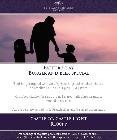 Fathersday at LE Franschhoek
