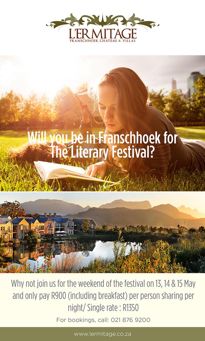 Literary Festival weekend at lermitage