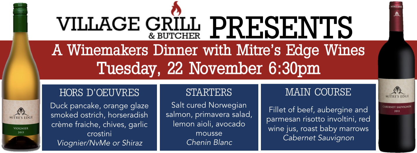 Franschhoek Wine Valley | Village Grill & Butcher presents a