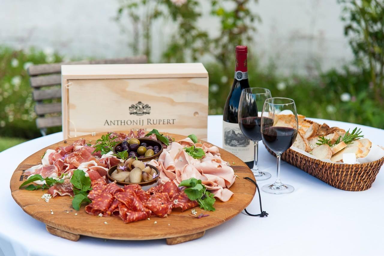 franschhoek wine valley shiraz charcuterie at anthonij rupert wyne